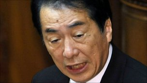 Japanese prime minister, Naoto Kan