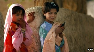 Afghan girls in the Arghandab Valley in September 2010