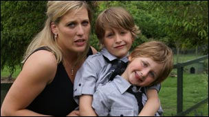 Andrea Antunes with her sons