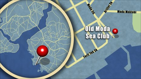 Map shows the lcoation of the Old Moda Sea Club