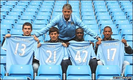 City manager Roberto Mancini with four new signings
