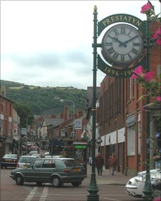 Prestatyn clock on the High Street