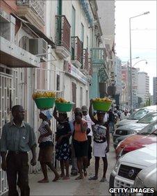 Street sellers in Luanda, Angola