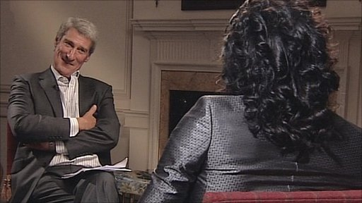 Jeremy Paxman talks to comedian Russell Brand