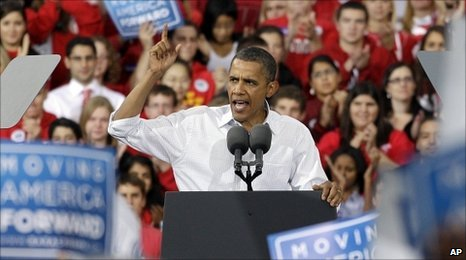 President Obama at election rally