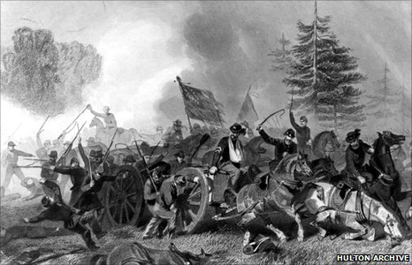 The US Civil War battle of Fair Oaks