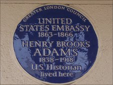 Blue Plaque to US Civil War embassy