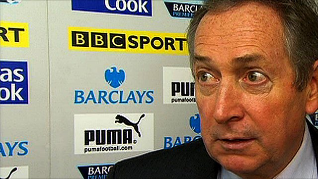 Aston Villa manager Gerard Houllier