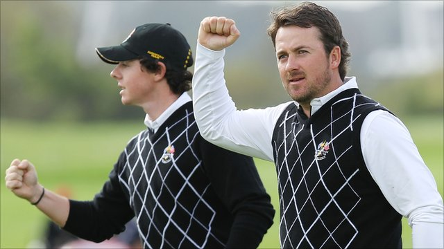 Rory McIlroy(l) and Graeme Macdowell