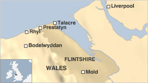 Talacre location map