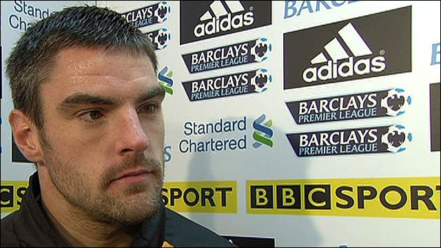 Blackpool goalkeeper Matt Gilks