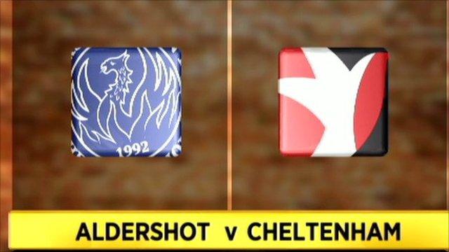 Aldershot 0-2 Cheltenham
