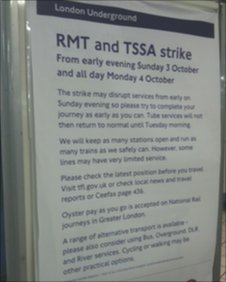 Sign at Tube station