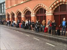 Taxi queue at St Pancras