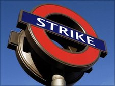 BBC London's Tube strike logo