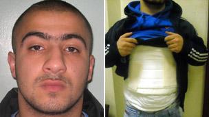 Yusuf Arslan and his body armour