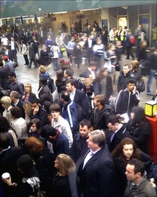 Commuters at King's Cross