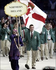 Northern Ireland's team attend the Commonwealth Games opening ceremony