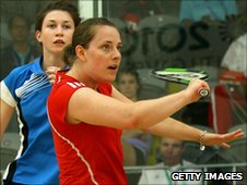Natalie Dodd of Guernsey playing Stephanie Edmison of Canada