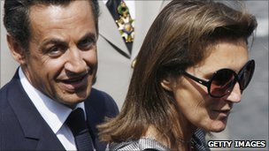 President Sarkozy and his former wife Cecilia shortly before their divorce