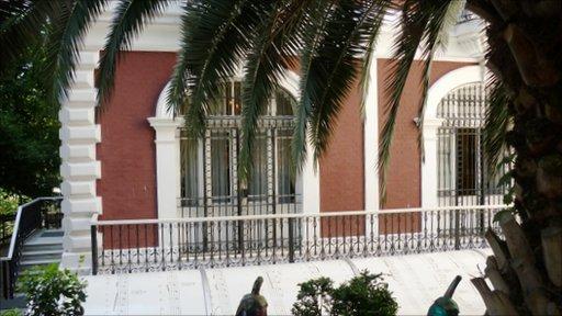 The exterior of the Baris Manco Museum