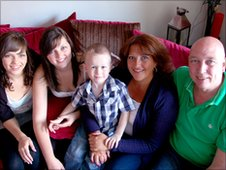 Conor, 3, with foster family