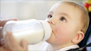 A child feeding