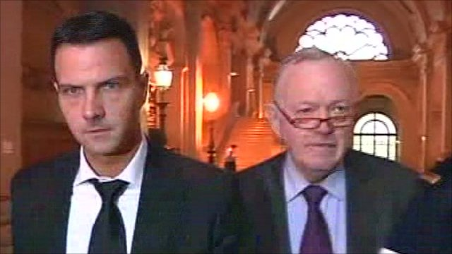 Jerome Kerviel and his lawyer Oliver Metzner