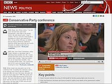 An example of a BBC News live event page