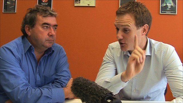 Jonathan Pearce(l) and Dan walker(r)
