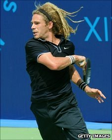 Patrick Ogier in the tennis men's singles at the Delhi 2010 Commonwealth Games