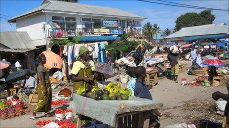 Market in Tanzania