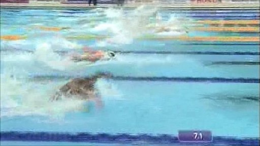 Swimming action at the Delhi 2010 Commonwealth Games