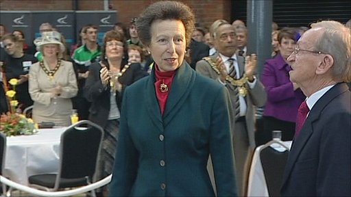 Princess Anne attends the official opening of the Roundhouse in Derby