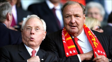 Liverpool co-owners Tom Hicks (right) and George Gillett are under pressure to sell