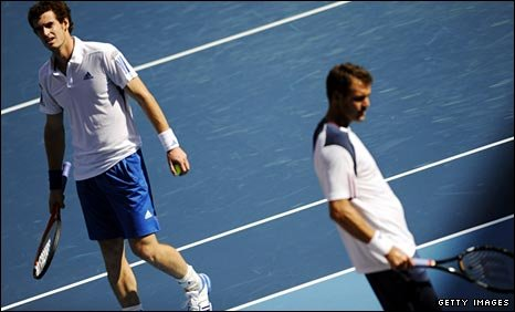 Andy Murray and Paul-Henri Mathieu