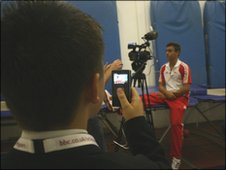 Tom is now regularly filmed and interviewed about his diving career