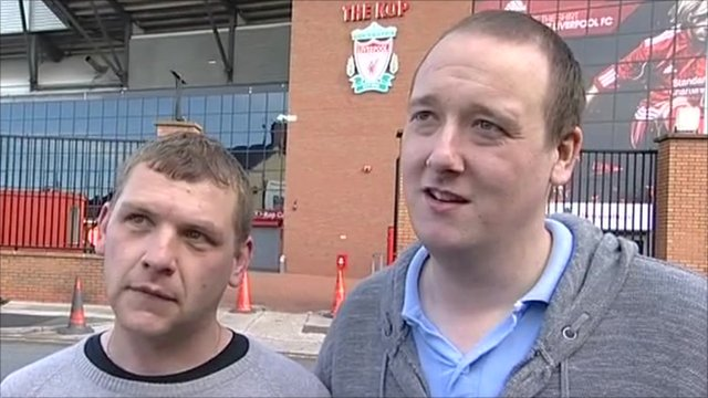 Two Liverpool fans