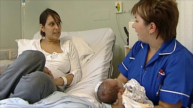 Manjit Canham in Milton Keynes Hospital maternity unit