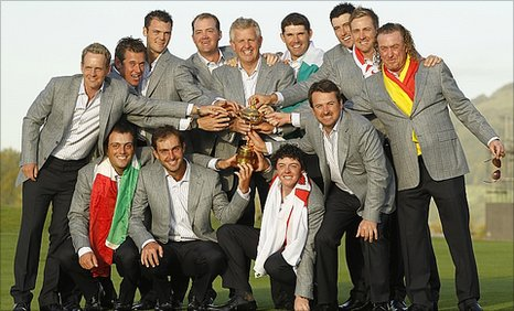 Europe's Ryder Cup team