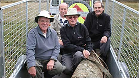 Ron's Ramblers with the King's Way Cross Dartmoor