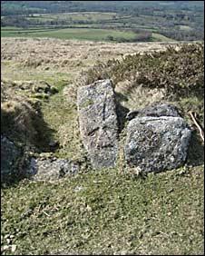 Granite cross on King's Way Dartmoor