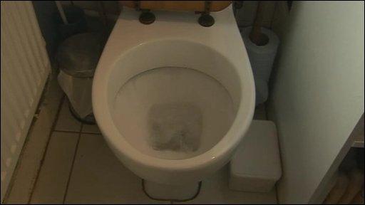 Menschliche toilette