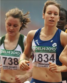 Ciara Mageean (left) with Scotland's Stephanie Twell