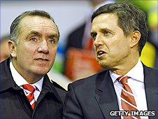 Liverpool commercial director Ian Ayre (left) and managing director Christian Purslow