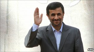 President Mahmoud Ahmadinejad pictured in Tehran 2 October