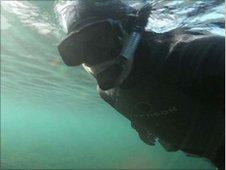 Charlie Hamilton James underwater