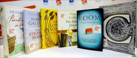 The shortlisted books competing for the Man Booker Prize