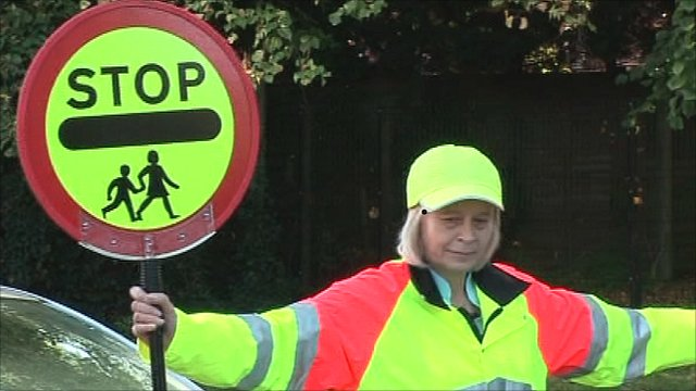 Head teacher Tania Johnson turns lollipop lady