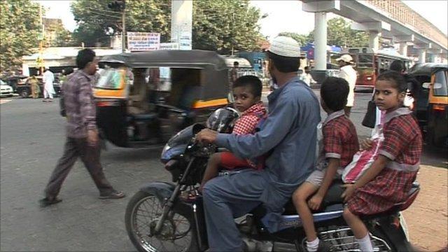 On the road in Mumbai